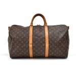Vintage Louis Vuitton Keepall 50 Bandouliere Monogram Canvas Travel Bag