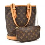 Louis Vuitton Bucket PM Monogram Canvas Shoulder Bag