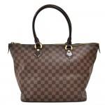 Louis Vuitton Saleya MM Ebene Damier Canvas Handbag