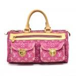 Louis Vuitton Pink Monogram Denim Neo Speedy Handbag