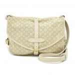 Louis Vuitton Saumur 30 Dune Off-white Monogram Mini Lin Canvas Crossbody Bag