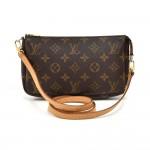 Vintage Louis Vuitton Pochette Accessoires Monogram Canvas Clutch Bag + Strap