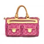 Louis Vuitton Neo Speedy Pink Monogram Denim Handbag