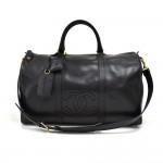 Vintage Chanel Boston Black CC Logo Caviar Leather Boston Bag + Strap