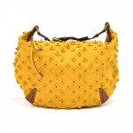 Louis Vuitton Onatah Fleur GM Yellow Suede Perforated Monogram Hobo Bag - Limited Ed