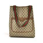 Vintage Gucci Accessory Collection Beige GG Supreme Coated Canvas Tote Bag