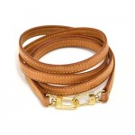 Louis Vuitton Beige Cowhide Leather Shoulder Strap For Small Bags