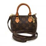 Vintage Louis Vuitton Mini Speedy Sac HL Monogram Canvas Handbag + Strap
