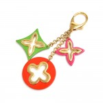 Louis Vuitton Insolence Tricolor Gold-Tone Key Chain / Bag Charm