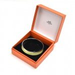 Hermes Lime Green Enamel Caleche Coach Design Bracelet Bangle PM