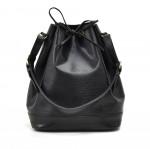 Vintage Louis Vuitton Noe Large Black Epi Leather Shoulder Bag