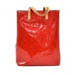Louis Vuitton Reade MM Red Vernis Leather Handbag