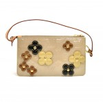 Louis Vuitton Beige Vernis Leather Flower Lexington-2002 Limited Handbag