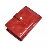 Louis Vuitton Portefeuille Viennois Red Vernis Leather Bifold Wallet