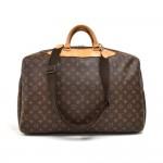 Vintage Louis Vuitton Alize 1 Poche Soft Sided Suitcase Travel Bag + Garment bag