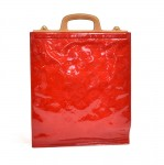 Louis Vuitton Stanton Red Vernis Leather Flat Tote Handbag