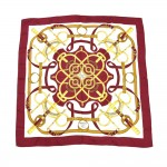 Hermes Eperon d'Or by Henri d'Origny Red & Gold Silk Scarf 90