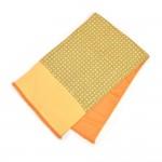 Hermes Yellow Horsebit pattern Angora & Silk Scarf