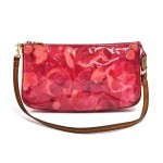 Louis Vuitton Pochette Accessorie NM Rose Velours Vernis Leather Handbag