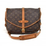 Vintage Louis Vuitton Saumur 30 Monogram Canvas Messenger Bag