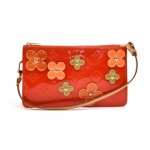 Louis Vuitton Orange Vernis Leather Flower Lexington - 2002 Limited Handbag