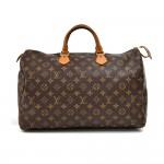 Vintage Louis Vuitton Speedy 40 Monogram Canvas Handbag