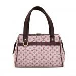 Louis Vuitton Josephine PM Pink Monogram Mini Lin Canvas Handbag