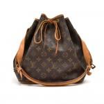 Vintage Louis Vuitton Petit Noe Monogram Canvas Shoulder Bag-1980s