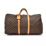 Vintage Louis Vuitton Keepall 60 Monogram Canvas Duffle Travel Bag