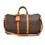 Vintage Louis Vuitton Keepall 50 Bandouliere Monogram Canvas Travel Bag + Strap