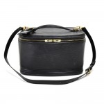 Louis Vuitton Black Epi Vanity Toiletry Cosmetic Travel Case + Strap
