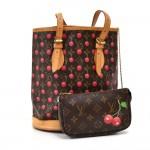 Louis Vuitton Bucket PM Monogram Cerises Cherry  Shoulder Bag - Takashi Murakami 2005