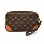 Vintage Louis Vuitton Pochette Marly Dragonne PM  Monogram Canvas Wristlet Bag