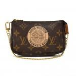 Louis Vuitton Mini Pochette Accessoires Trunks & Bags Monogram Canvas Handbag-Limited
