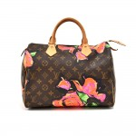 Louis Vuitton Stephen Sprouse Roses Speedy 30 Monogram Canvas Handbag-Limited