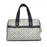 Vintage Louis Vuitton Josephine GM Blue Mini Monogram Canvas Handbag