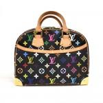 Louis Vuitton Trouville Black Multicolor Monogram Canvas Handbag