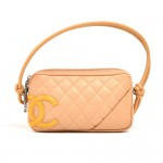 Chanel Cambon Ligne Beige Quilted Calfksin Leather Bowler Tote Bag