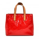 Louis Vuitton Reade PM Red Vernis Leather Handbag
