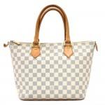 Louis Vuitton Saleya PM White Damier Azur Canvas Handbag