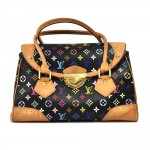 Louis Vuitton Beverly GM Black Multicolor Monogram Canvas Handbag