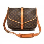 Vintage Louis Vuitton Saumur 35 Monogram Canvas Messenger Bag-1980s
