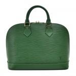 Vintage Louis Vuitton Alma Green Epi Leather Handbag