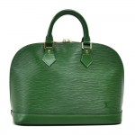 Vintage Louis Vuitton Alma Green Epi Leather Handbag