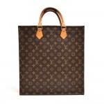 Louis Vuitton Sac Plat Monogram Canvas Tote Handbag