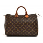Vintage Louis Vuitton Speedy 35 Monogram Canvas City Handbag 1980s