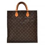 Vintage Louis Vuitton Sac Plat Monogram Canvas Tote Handbag 1980s