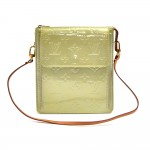 Louis Vuitton Mott Light Green Vernis Leather Shoulder Bag