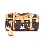 Louis Vuitton Papillon 27 Cherry Blossom Monogram Canvas Murakami Handbag - 2003 Limited