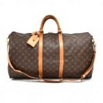 Vintage Louis Vuitton Keepall 55 Bandouliere Monogram Canvas Travel Bag + Strap